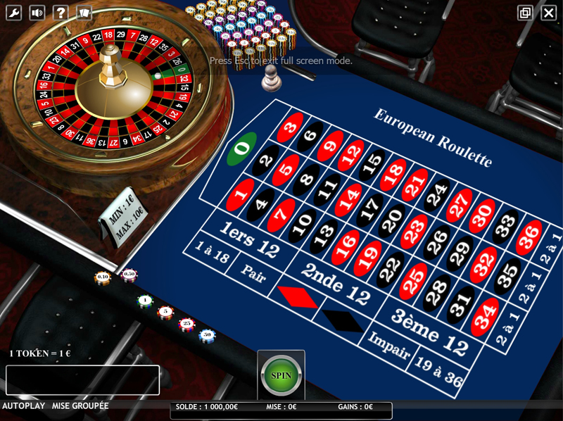 Regle jeu roulette europeenne
